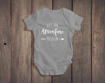 Let The Adventure Begin Baby Onesie // Pregnancy Announcement Onesie // Baby Clothing // Baby Bodysuit // Baby Clothes // Baby Outfit