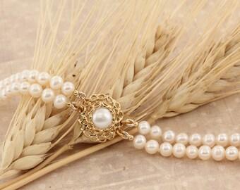 Pearl Bridal Bracelet, Wedding Bracelet, Freshwater Pearl Bracelet, Pearl Bracelet, Bridal Jewelry, Prom Jewelry, Wedding Accessories, Bride