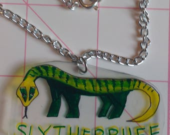 Slytherpuff House Necklace