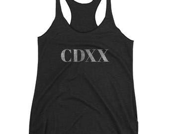 CDXX = 420 in Roman Numerals - Women's Tank Top