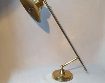 Grasshopper - Table lamp - Bronze and brass - unique