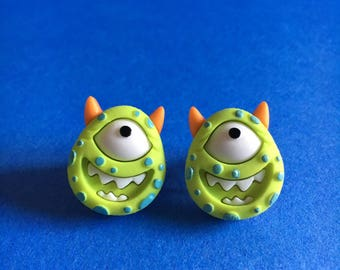 Green Monster Earrings