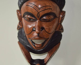 African Hand Carved Male Figure