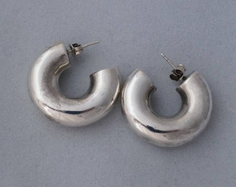 Artisan SOLID SILVER 925 Big Lady's EARRINGS - Elegant & Attractive