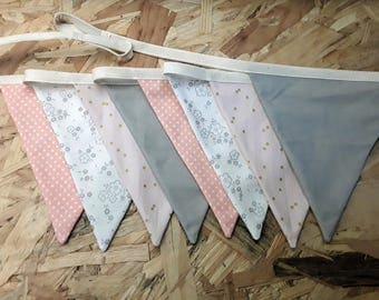 Garland pennants pink kids room decoration