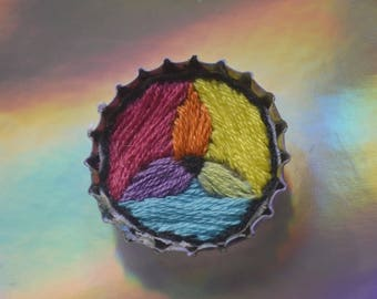 CMYK Colour Wheel Embroidered Pin