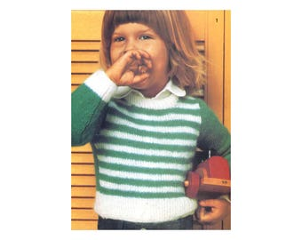 Kids Knit Sweaters Pattern