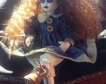 Creepy Doll With Crazy Hair