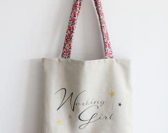 Two-tone Liberty bag Tote Bag to customize