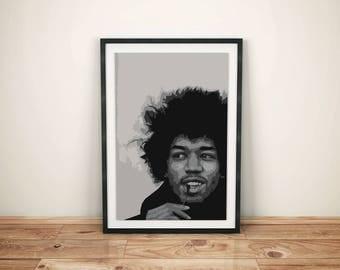 Jimi Hendrix - Digital Print - Poster - A3