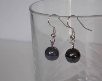 Black hematite earrings