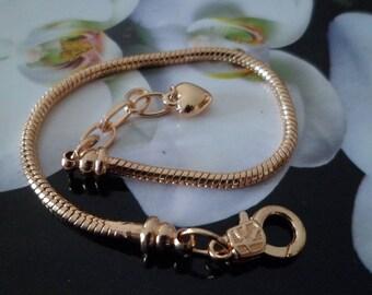 1 bracelet 19 cm clasp gold