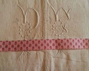 1 meter Ribbon grosgrain Ribbon 25 mm / pink liberty
