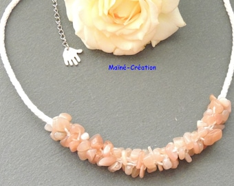 The Sunstone in kumihimo necklace