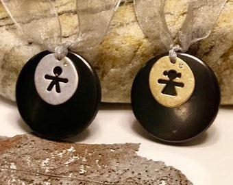 Shungite pendant for a child emf protection,schungite pendant, Baby necklace,schungit Magic,Healing crystal, Shungite baby necklace