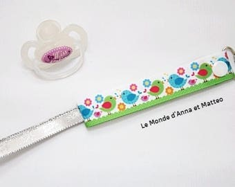 """Pacifier clip / pacifier / personalized """"in the garden"""""""