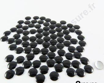 Thermo nail - Black - 2mm - x 200pcs