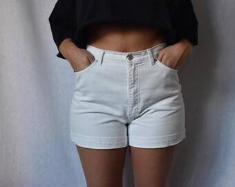 "St Michael Vintage High Waist Denim Shorts Waist 28"""