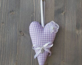 Deco heart, a fabric heart hanging heart Tilda, romantic gift idea
