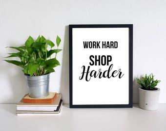 Funny Print | Fashion Print | Shopping | Motivational | Wall Art Prints | Quote Print | Minimalist Print | Modern Art | Scandinavian Print