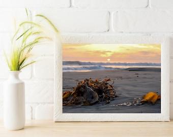 Beach Wall Art, Beach Print, Beach Printable, Sunset Print, Sunset Printable, Beach Decor, Wall Art, Wall Decor, Home Decor, Office Decor