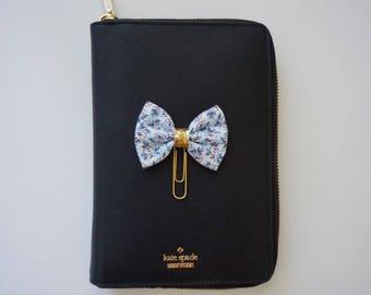 Blue mini floral paperclip