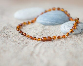 Amber Teething Necklace for Baby or Child /  Personalized Amber Teething necklace  / Necklace for Toddler / Gift for Child / Baltic Amber