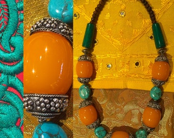 Ethnic chic necklace