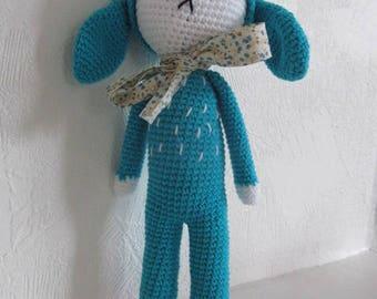 Misty the Hare 100% hand crocheted amigurumi plush cotton