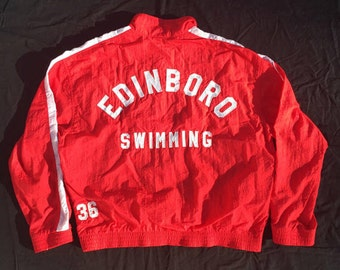 Vintage Speedo Edinboro Swim Jacket