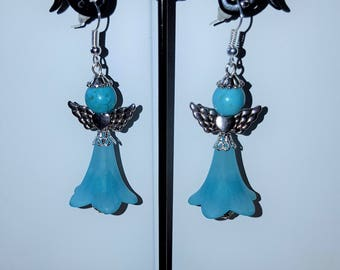 "Earrings ""Angels"" turquoise 2"