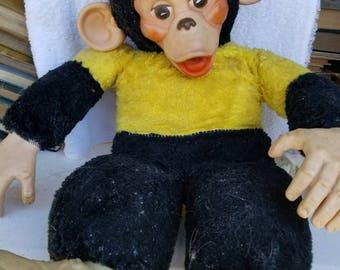 Antique Monkey with Yellow Shirt Stuffed Animal
