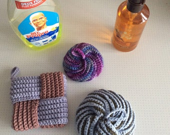 Japanese crochet Tawashi sponges