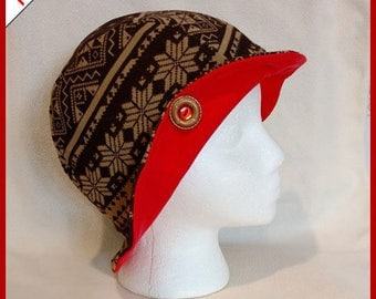 Gayla ~ Handcrafted from recycled clothing, Cloche, Flapper Style, Chemo Hats
