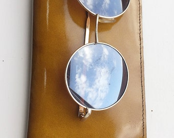 Leather Sunglass Slip Case - L.PITTFORD - Made in England - Handmade - Yellow