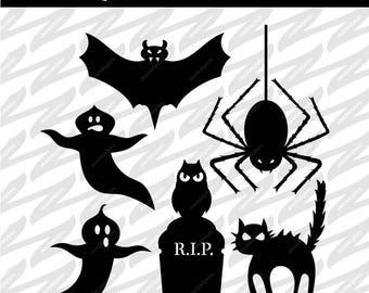 Halloween Jack-o'Lantern Cutouts SVG DXF PNG Digital