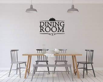 Dining room - vinyl on decal paper so you can decorate whatever you like – Home décor
