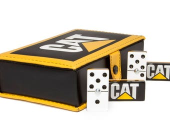 Caterpillar Domino 100% Acrylic, Faux Leather Case