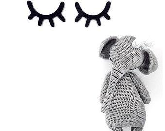 Stuffed elephant, Plush elephant, Crochet elephant, Amigurumi elephant, Knit elephant toy, Soft elephant toy, Safari toy, Safari nursery