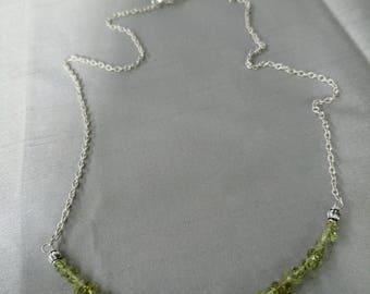 Green Peridot Strand Necklace