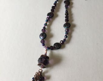 Beach Girls Beads - Deep Purple Necklace