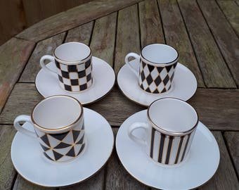 REDUCED Hornsea Silhouette Demitasse Coffee Cups & Saucers