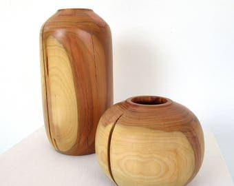 Design vase, small wooden vase, home interior, wood vase, wooden vase, decorative vase, modern vase, amphora vase, centrepiece