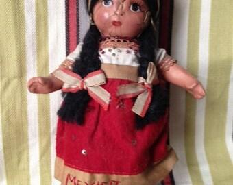 Vintage Mexico Souvenir Doll