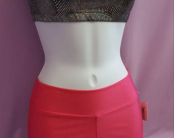 Pink spandex athletic shorts