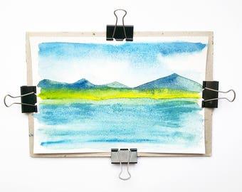 Mountain Lake (watercolours)
