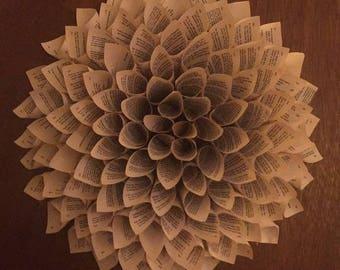 Circular book wreath