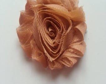 fleur chabby marron  caramel 65mm