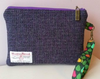Harris Tweed Wristlet purse