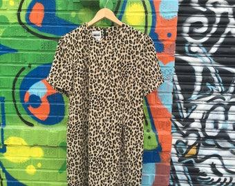 Bettie Paige inspired Cheetah Dress
